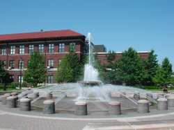 Purdue's Loeb Fountain at Founder's Park