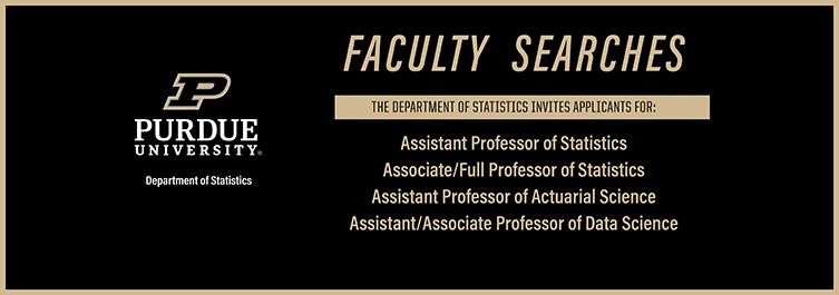 Purdue University   Department of Statistics