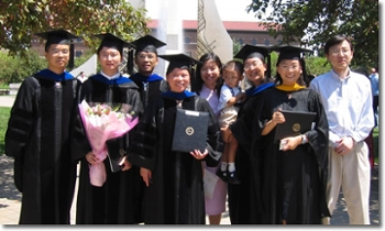 August 2005 Statistics Ph.D. and M.S. Graduate Students with Professor Jun Xie and Professor Michael Zhu