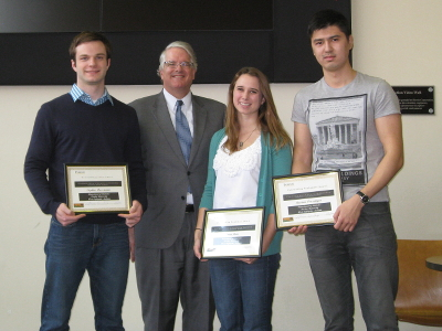 College of Science Outstanding Statistics Students 2014