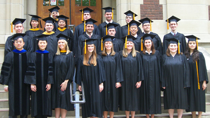 Statistics and Actuarial Science graduates from May 2009