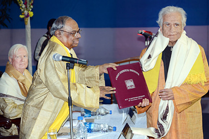 Jayanta Ghosh receives Honorary D.Sc.