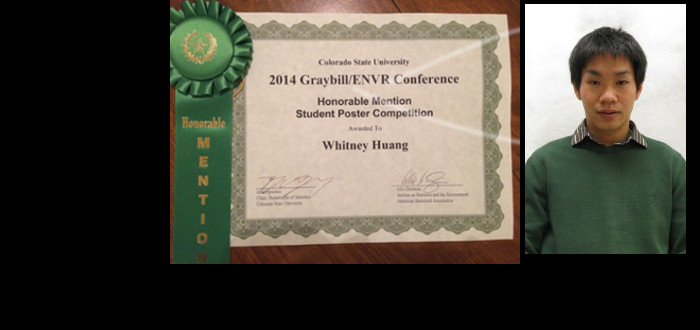 Student poster competition in Graybill Conference