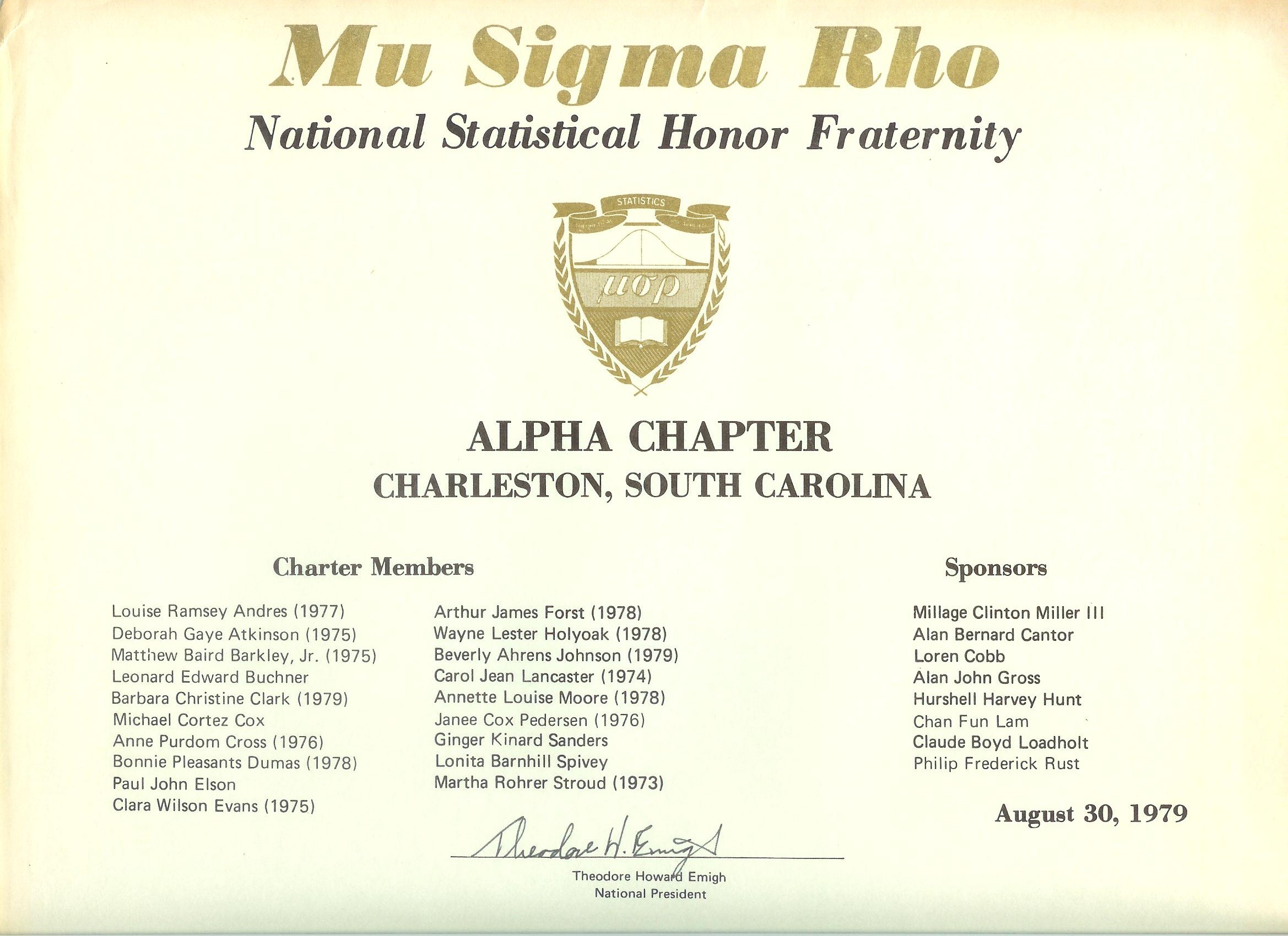 National mu sigma rho home page alpha chapter charter buycottarizona Choice Image